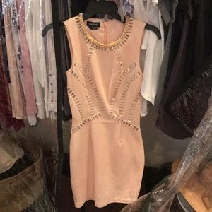 Pink dress with studs